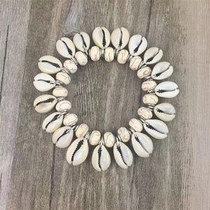 Seashell Bracelet Natural Cowrie Stretch